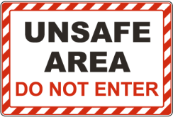 F7878-unsafe-area-do-not-enter