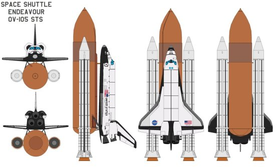 Space_shuttle_Endeavour_OV_105_by_bagera3005